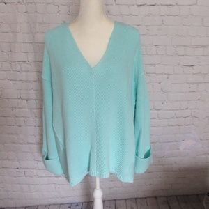 Free People NWT Oversized Sweater Baby Blue